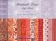 Набор бумаги для скрапбукинга ручной работы Оранжевый 18 листов, 30*30 см